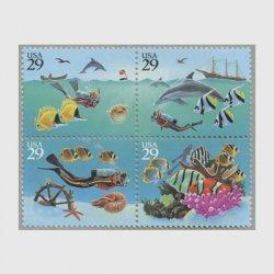 アメリカ 1994年海の不思議4種連刷