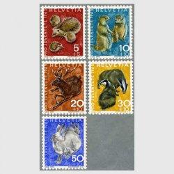 スイス 1965年ハリネズミ(5+5c)など5種