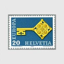 スイス 1968年ヨーロッパ切手「鍵」