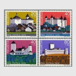 スイス 1976年スイスの城4種