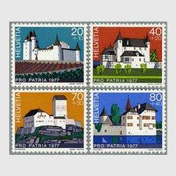 スイス 1977年スイスの城4種