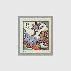 アメリカ 1996年クリスマススケート切手帳分割