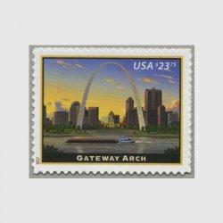 アメリカ 2017年ゲートウェイ・アーチ速達切手