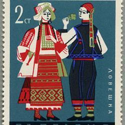 ブルガリア 1968年民族衣装6種