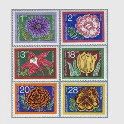 ブルガリア 1974年花6種