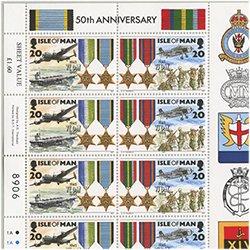 マン島 1995年ヨーロッパ戦勝50周年シート4種