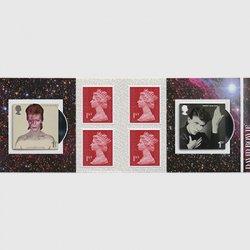 イギリス 2017年デヴィッド・ボウイ切手帳