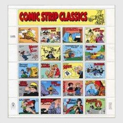 アメリカ 1995年漫画誕生100年小型シート※少難品