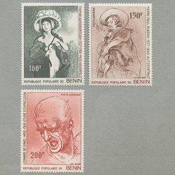 ベナン人民共和国 1977年絵画3種