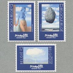 ベルギー 1998年マグリットの絵画3種
