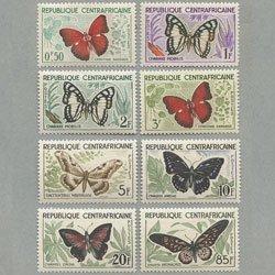 中央アフリカ 1960年蝶8種