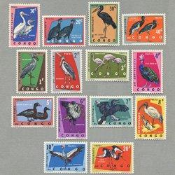 コンゴ共和国 1963年鳥14種