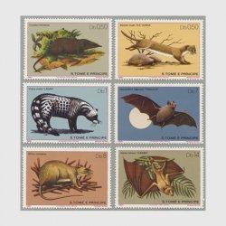 サントメ・プリンシペ 1981年哺乳類6種