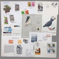 鳥のカバー、書簡、葉書ミニコレクション