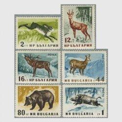 ブルガリア 1958年野ウサギなど6種