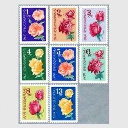 ブルガリア 1962年バラ8種※少難品