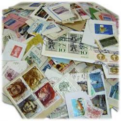 外国切手紙付使用済ミクスチャー