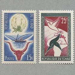 チャド 1959年共和国宣言1周年2種