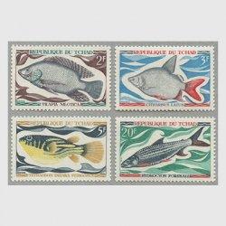 チャド 1969年魚4種