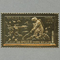 チャド 1969年金箔切手 アポロ11号月面着陸