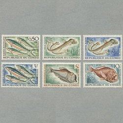 コンゴ共和国 1961年魚6種