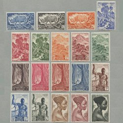 仏領赤道アフリカ 1946年クロサイなど19種
