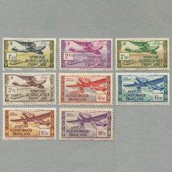 仏領赤道アフリカ 1937年航空切手8種