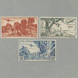 仏領赤道アフリカ 1946年航空切手3種