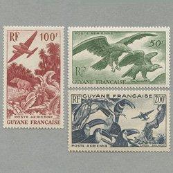 仏領ギアナ 1947年 航空切手3種