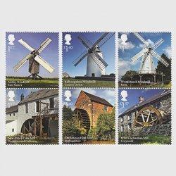 イギリス 2017年風車と水車6種