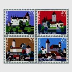 スイス 1979年オロン城(20+10c)など4種