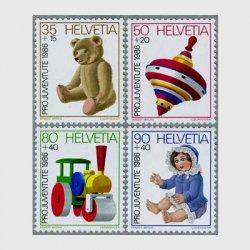 スイス 1986年テディベア(35+15c)など4種