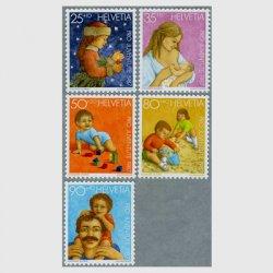 スイス 1987年クリスマスの少女(25+10c)など5種