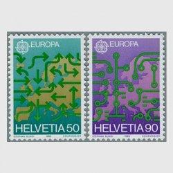 スイス 1988年ヨーロッパ切手地図2種