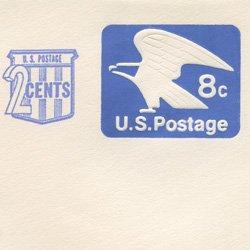切手付封筒 アメリカ1973年サーチャージ付8c