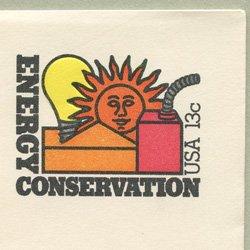 切手付封筒 アメリカ1977年エネルギーの保護