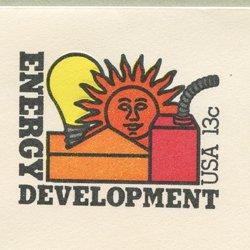 切手付封筒 アメリカ1977年エネルギーの進歩