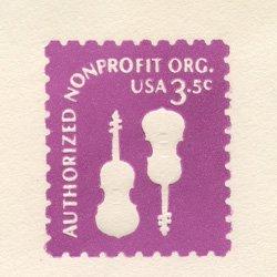 切手付封筒 アメリカ1980年2台のヴァイオリン
