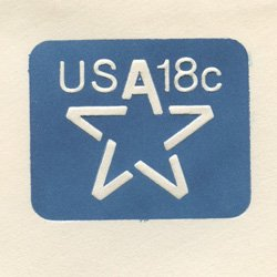 切手付封筒 アメリカ1981年星18c