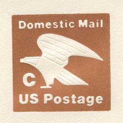 切手付封筒 アメリカ1981年ワシ「C」