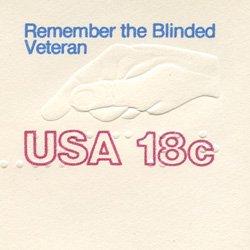 切手付封筒 アメリカ1981年退役兵盲人