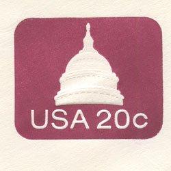 切手付封筒 アメリカ1981年議事堂