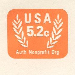 切手付封筒 アメリカ1983年NPO(サイズ小)