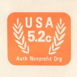 切手付封筒 アメリカ1983年NPO(サイズ大)