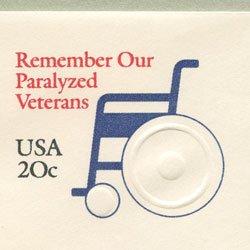切手付封筒 アメリカ1983年退役軍人麻痺者協会(サイズ大)