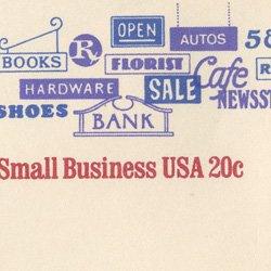 切手付封筒 アメリカ1984年看板(サイズ大)