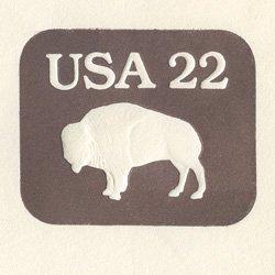 切手付封筒 アメリカ1985年バッファロー(サイズ大)