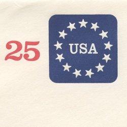 切手付封筒 アメリカ1988年13星(サイズ小)