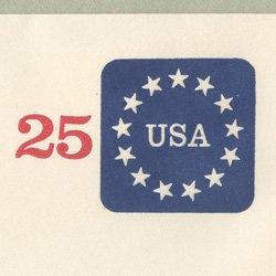切手付封筒 アメリカ1988年13星(サイズ大)