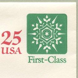 切手付封筒 アメリカ1988年雪の結晶